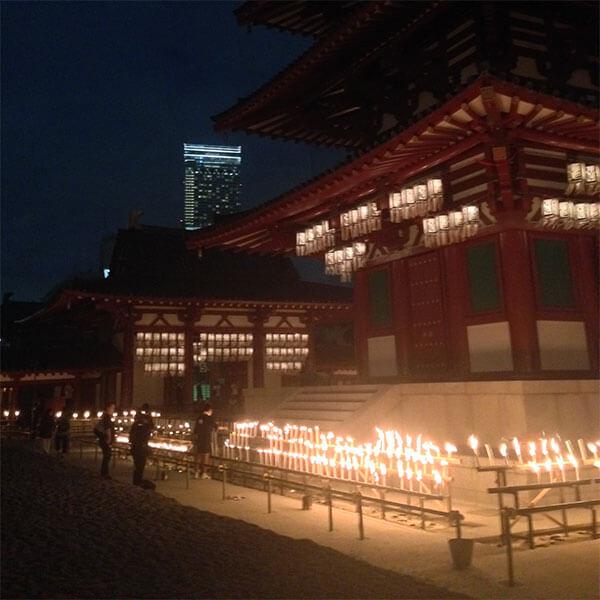 四天王寺 万灯供養の様子