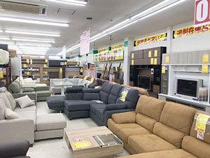 ソファーやテレビボードなどリビング関連売り場